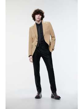 Blazer With Wide Lapels by Zara