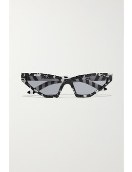 Cat Eye Marbled Acetate Sunglasses by Prada
