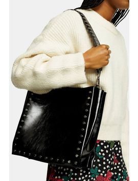 Dash Black Studded Tote Bag by Topshop
