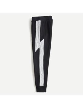 Boys' Sweatpant With Lightning Bolt Side Stripe by J.Crew