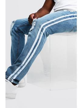 Big & Tall Skinny Fit Distressed Jean by Boohoo