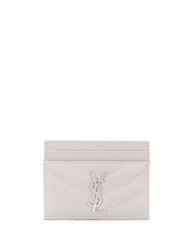 Monogram Plaque Cardholder by Saint Laurent