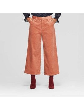 Women's High Rise Wide Leg Cropped Corduroy Pants   A New Day™ by A New Day