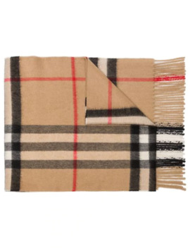 Signature Check Print Scarf by Burberry