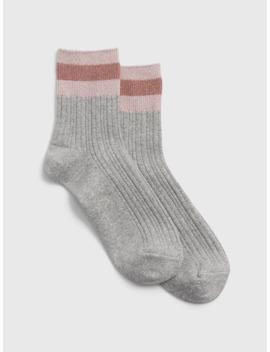 Glitter Stripe Half Crew Socks by Gap