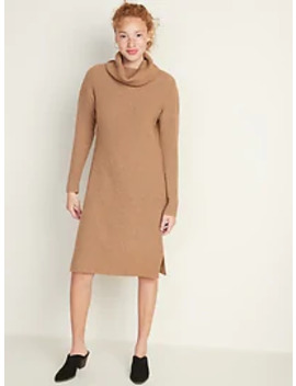 Shaker Stitch Turtleneck Sweater Dress For Women by Old Navy