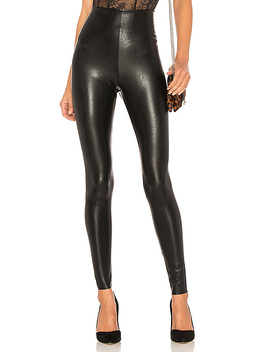 Perfect Control Faux Leather Legging In Black by Commando