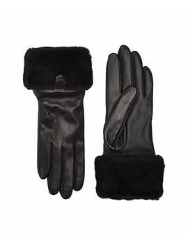 Sheepskin Cuff Tech Leather Gloves by Ugg