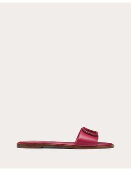 Vlogo Flat Calfskin Slide Sandal by Valentino Garavani