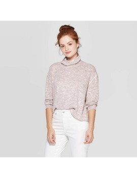 Women's Long Sleeve Mock Turtleneck Snit Sweatshirt   Universal Thread™ by Universal Thread