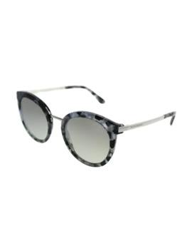 Dolce & Gabbana Round Dg 4268 31326 V Women Cube Black Silver Frame Silver Gradient Mirror Lens Sunglasses by Dolce & Gabbana