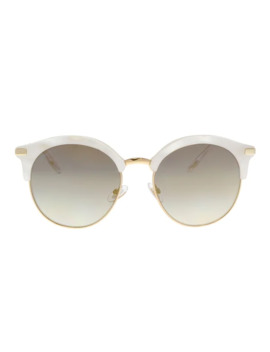 Jimmy Choo Hally/S Sck White White Cat Eye Sunglasses   55 19 140 by Jimmy Choo