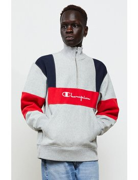 Champion Reverse Weave Colorblock Quarter Zip Pullover by Pacsun