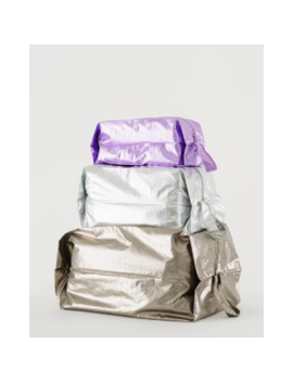 The 3 D Zip Set Zippered Metallic Pouches The 3 D Zip Set Zippered Metallic Pouches by Baggu