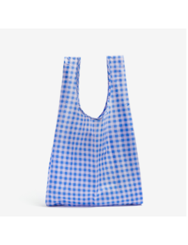 Cornflower Gingham Nylon Ripstop Standard Reusable Bag Cornflower Gingham Nylon Ripstop Standard Reusable Bag by Baggu
