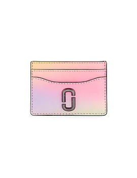 The Snapshot Airbrushed Coated Leather Card Case by Marc Jacobs