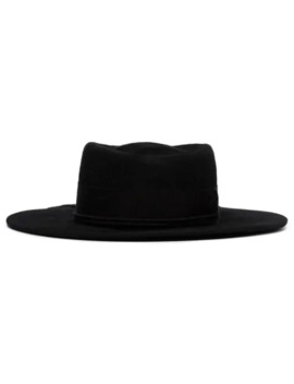 Ribbon Trimmed Fedora Hat by Ruslan Baginskiy
