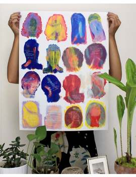Portraits Of Feminists Gouache Heads Poster by Etsy