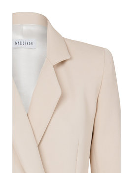 Template Collared Double Breasted Crepe Blazer by Maticevski