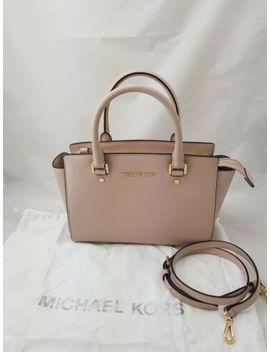 Michael Kors Saffiano Leather Medium Selma Satchel Bag Soft Pink by Ebay Seller
