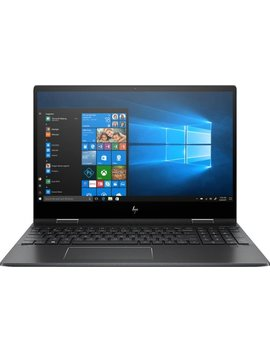 """Envy X360 2 In 1 15.6\"""" Touch Screen Laptop   Amd Ryzen 5   8 Gb Memory   256 Gb Solid State Drive   Sandblasted Anodized Finish, Nightfall Black by Hp"""