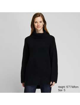 SoufflÉ Yarn Turtleneck Tunic by Uniqlo