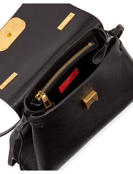 V Ring Small Leather Top Handle Shoulder Bag by Valentino Garavani