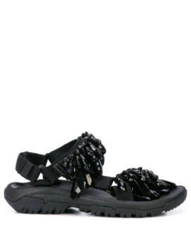 Crystal Embellished Sandals by Area
