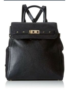 Michael Kors New Addison Medium Leather Backpack Shoulder Bag Black Leather by Ebay Seller