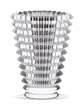 Small Round Eye Lead Crystal Vase by Baccarat