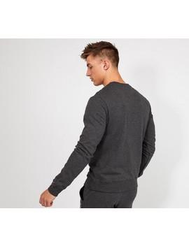 Lounge Linear Logo Sweatshirt | Charcoal by Tommy Hilfiger