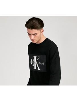 Monogram Box Logo Sweatshirt | Black by Calvin Klein Jeans