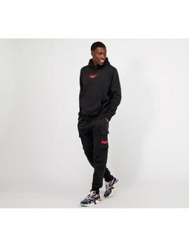 Double Swoosh Overhead Hooded Top | Black by Nike