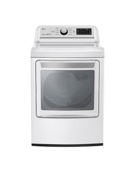 7.3 Cu.Ft. White Electric Vented Dryer With Rear Controls And Easy Load Door by Lg Electronics