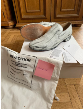 Maison Margiela X H&M Hand Painted Loafers by Maison Margiela  ×  H&M  ×