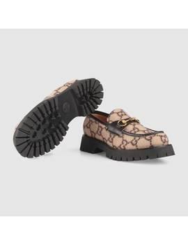 Loafer Aus Wolle Mit GgMotiv Und Horsebit by Gucci