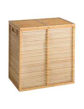 Cesto De Ropa Doble Bambú El Corte Inglés by El Corte Inglés