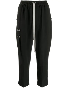 Drawstring Waist Cropped Trousers by Rick Owens