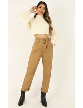 Paloma Pants In Tan by Showpo Fashion