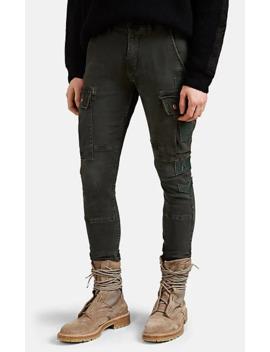Appliquéd Denim Slim Cargo Pants by Amiri