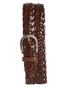 Braided Leather Belt by Brunello Cucinelli