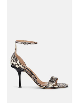 Snakeskin Stamped Leather Sandals by Sergio Rossi