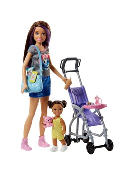 Barbie Skipper Babysitters Inc. Stroller Playset And Doll by Barbie