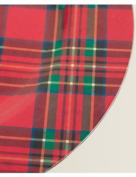 Bajoplato TartÁn Rojos  Bajoplatos   Accesorios De Mesa   Comedor by Zara Home