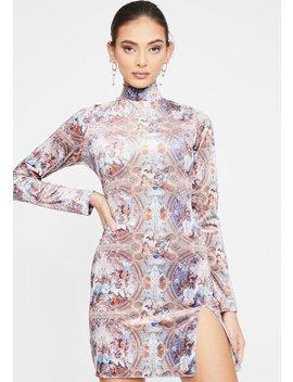 Palace Print Rossel Dress by Motel