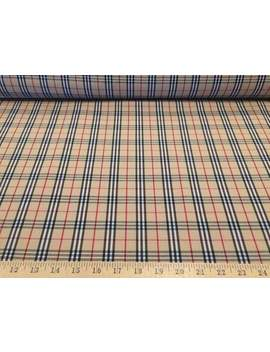"""Beige/Black/Red/White School Tartan Plaid 100% Polyester Fabric 58"""" Wide Sold By The Yard by Etsy"""