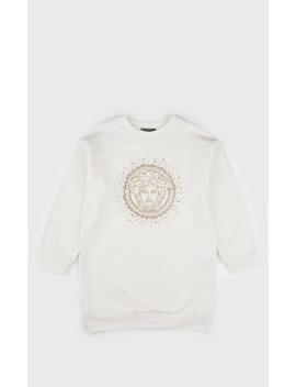 Kids' Medusa Logo Cotton Sweatshirt Dress by Versace