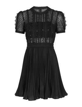 Black Sequin Embellished Mini Dress by Self Portrait