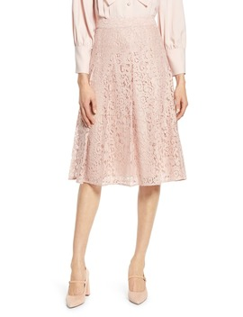 X Atlantic Pacific Pleated Lace Skirt by Halogen®