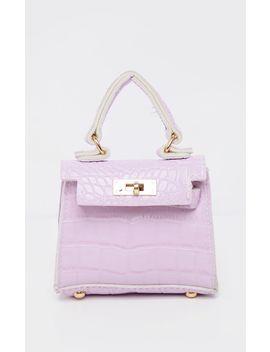 Lilac Croc Micro Mini Bag  by Prettylittlething